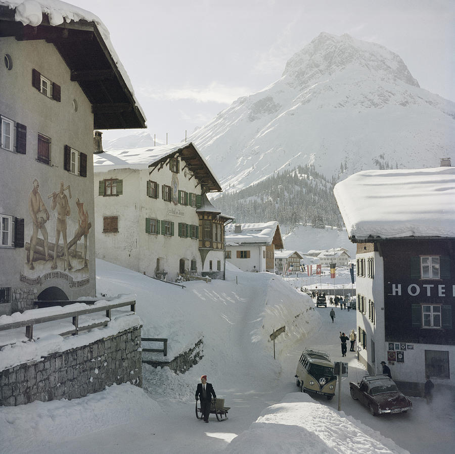 Hotel Krone, Lech Photograph by Slim Aarons