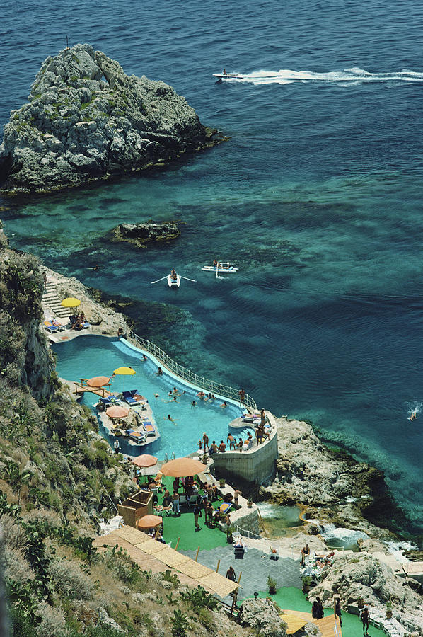 Hotel Taormina Pool Photograph by Slim Aarons