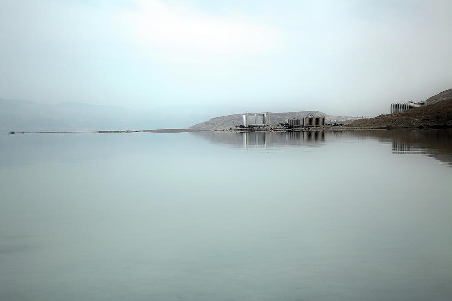 Hotels At Dead Sea Shoreline Photograph by Eldadcarin