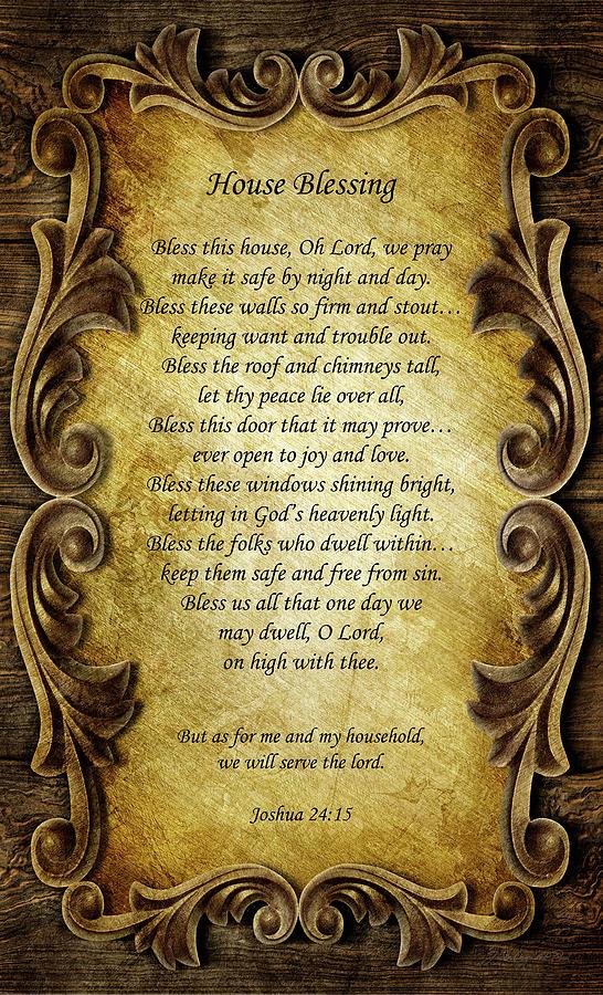 House Blessing Joshua 24 15 by Joann Copeland-Paul