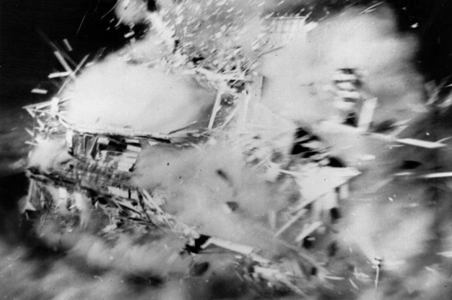 House Disintegrates Photograph by Keystone
