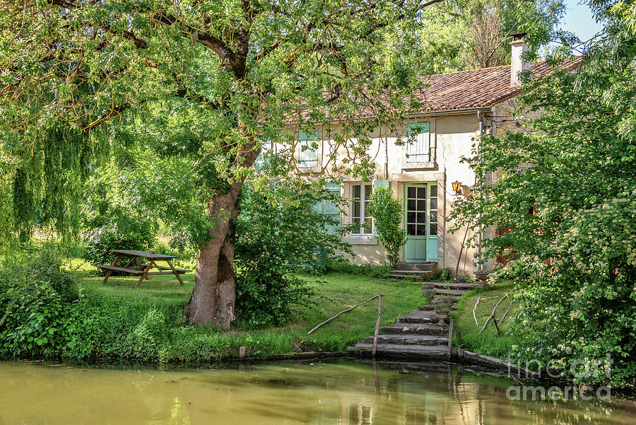 House Photograph - House In The Marais Poitevin by Delphimages Photo Creations