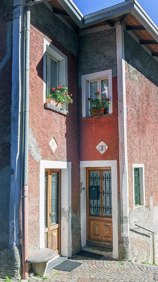 House In Vezio Lake Como Italy Photograph