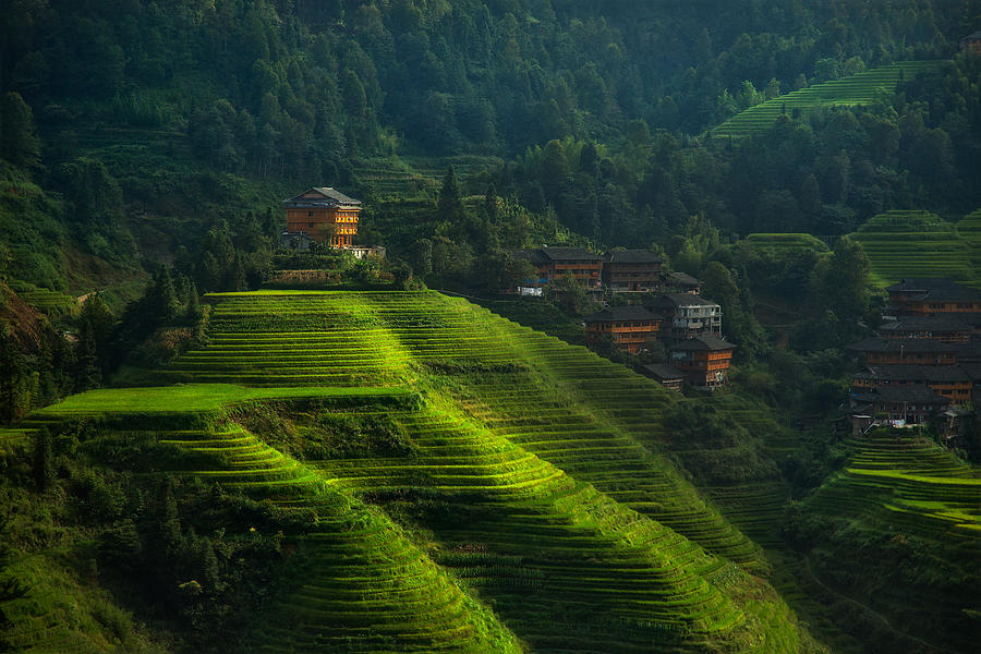 Terraces Photograph - House Of The Thousand Steps by Max Witjes