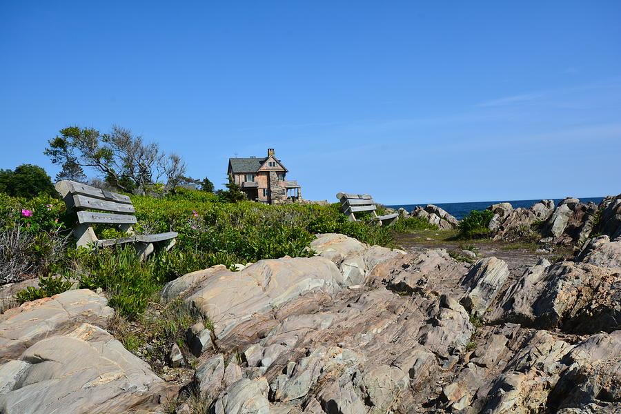 House on The Rocks, Kport, Maine Photograph by Ali Bailey