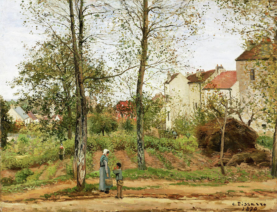 Camille Pissarro Painting - Houses At Bougival, Autumn - Digital Remastered Edition by Camille Pissarro