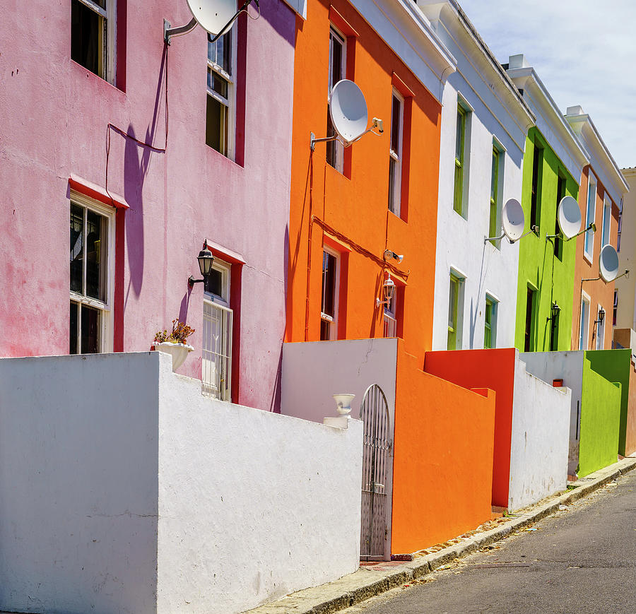 Houses In Bo-kaap In Cape Town Photograph