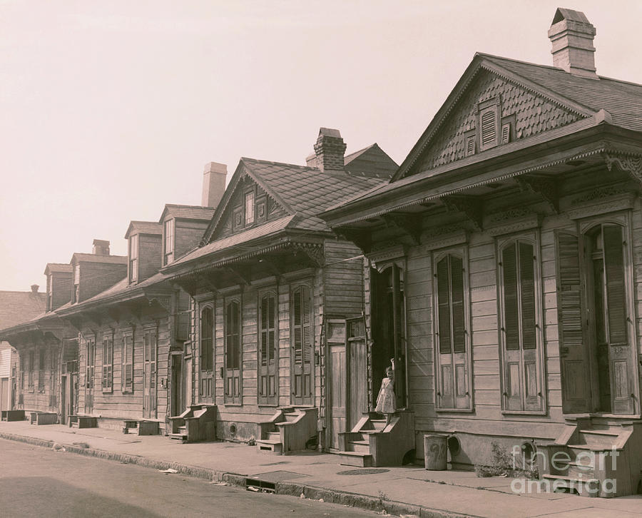 Houses In New Orleans Photograph by Bettmann