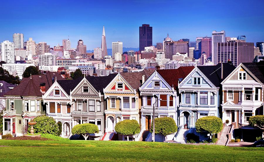 Houses In Row In San Francisco Photograph by Mark Brodkin Photography