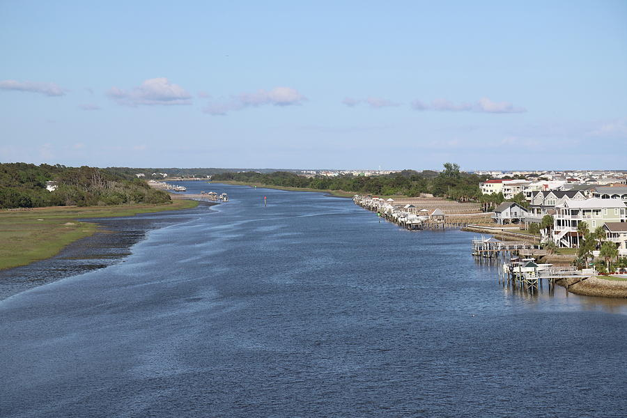 Houses On Intracoastal Waterway 4 by Cathy Lindsey