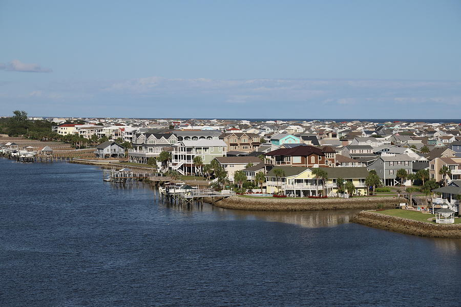Houses On Intracoastal Waterway 9 by Cathy Lindsey