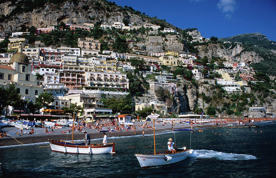 Houses Terraced Into Rugged Amalfi Photograph by Dallas  Stribley