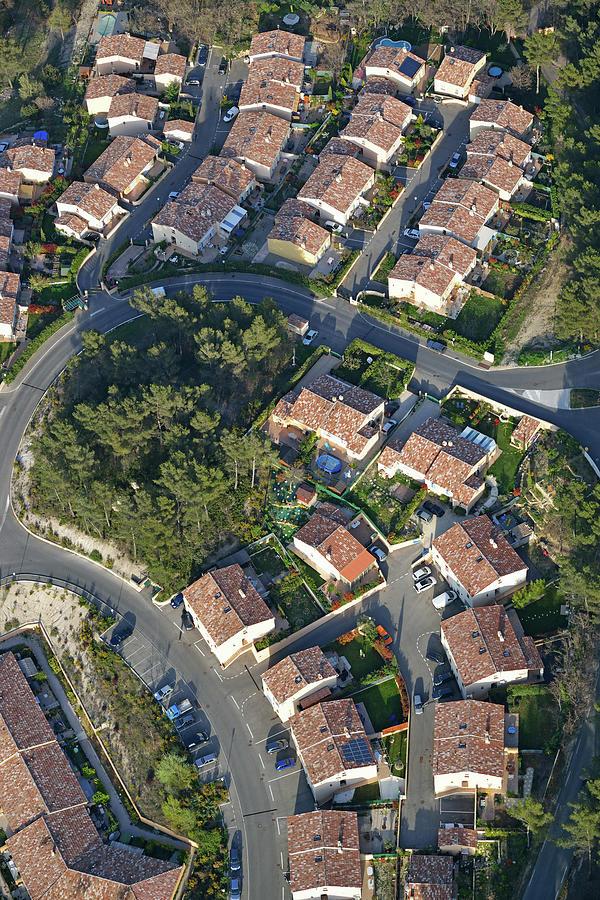 Housing Development, Peypin, Aerial View Photograph by Sami Sarkis