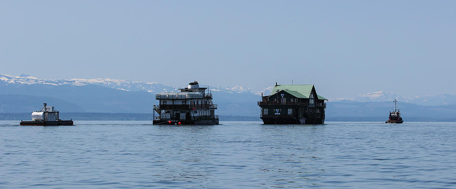 Housing on the Water Under Tow by Pacific Northwest Sailing