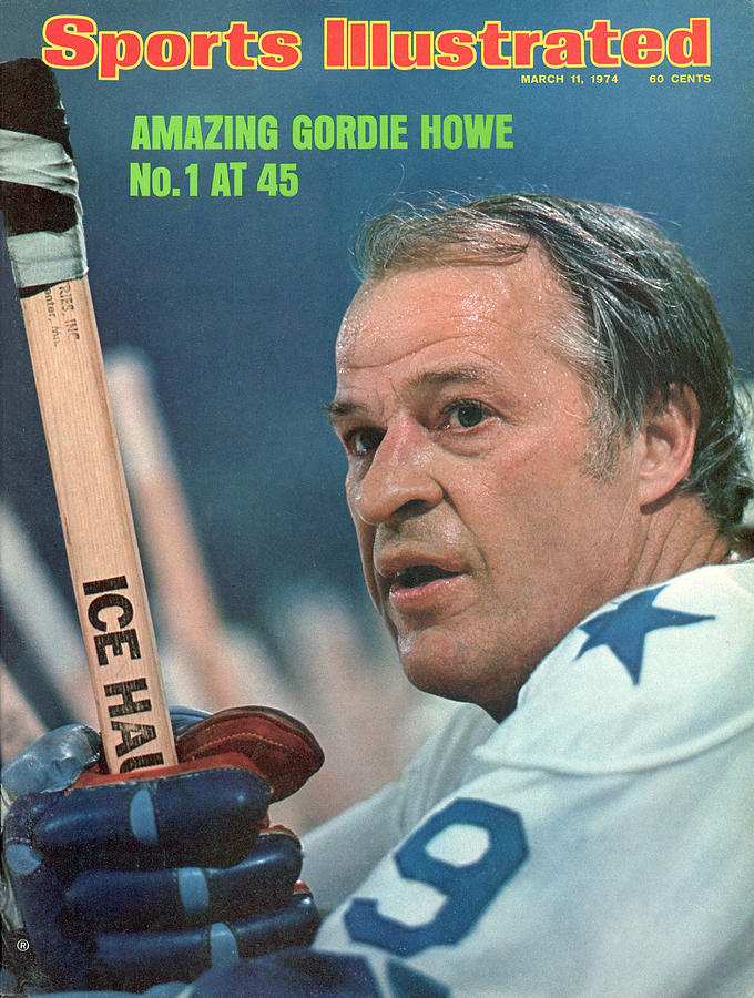 Houston Aeros Gordie Howe Sports Illustrated Cover Photograph by Sports Illustrated
