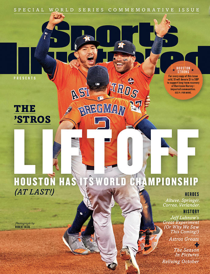 Houston Astros 2017 World Series Champions Sports Illustrated Cover Photograph by Sports Illustrated