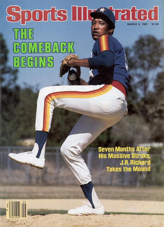 Houston Astros J.r. Richard Sports Illustrated Cover Photograph by Sports Illustrated