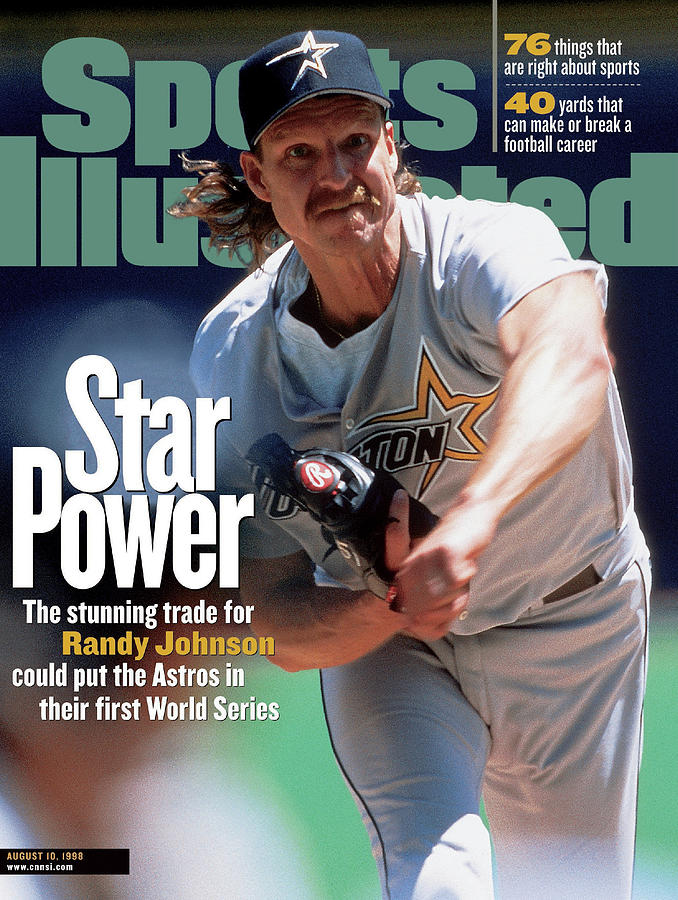 Houston Astros Randy Johnson... Sports Illustrated Cover Photograph by Sports Illustrated