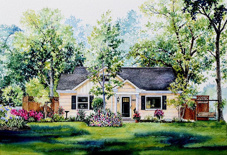 Portrait Commission Painting - Houston House Portrait by Hanne Lore Koehler