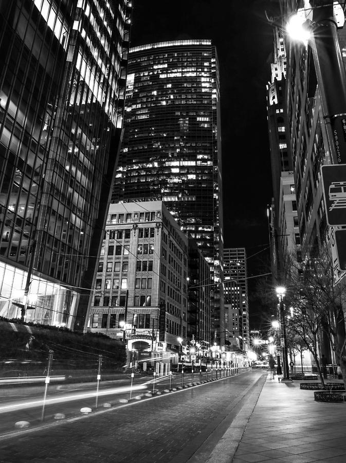 Houston Lights Black And White by Dan Sproul