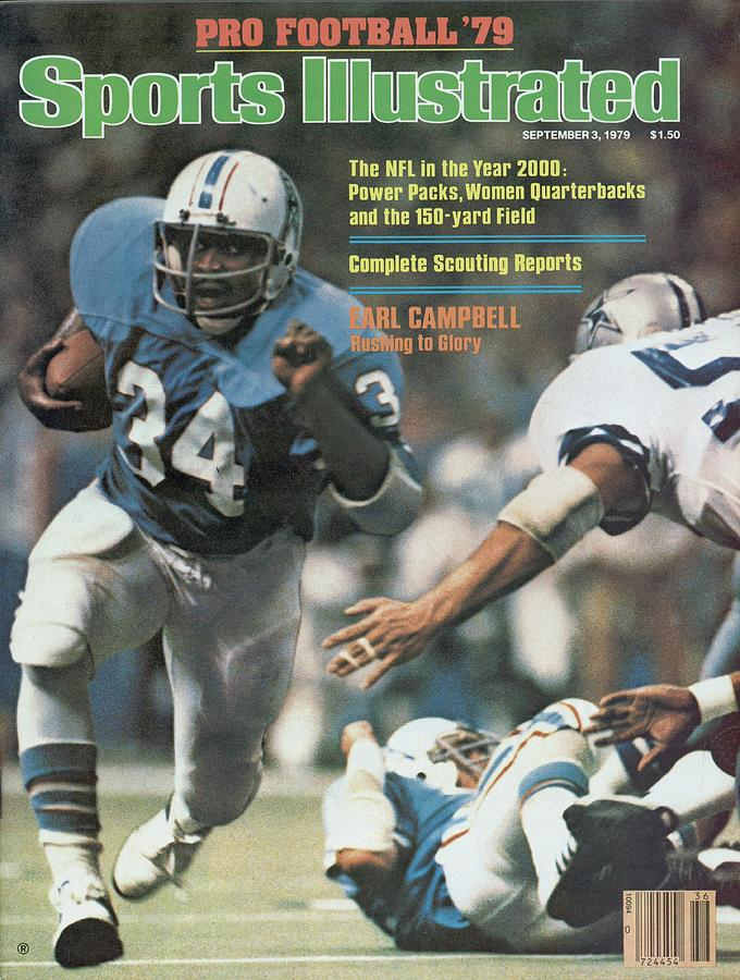 Houston Oilers Earl Campbell... Sports Illustrated Cover Photograph by Sports Illustrated