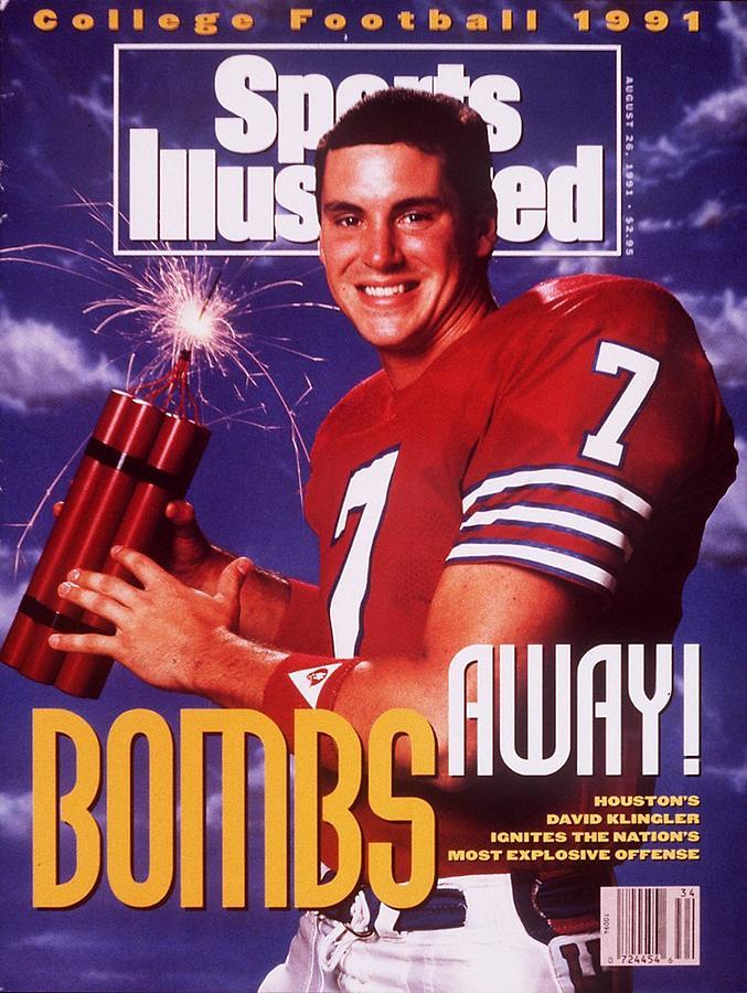 Houston Qb David Klingler, 1991 College Football Preview Sports Illustrated Cover Photograph by Sports Illustrated