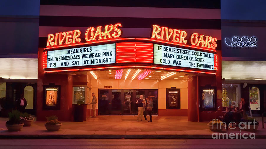 Houston River Oaks Theater Photograph