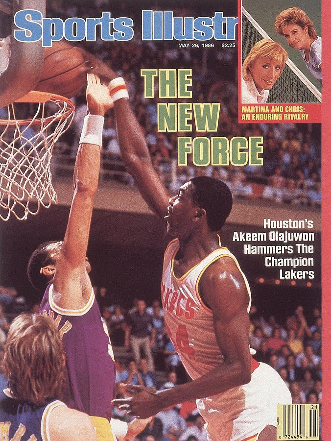 Houston Rockets Akeem Olajuwon, 1986 Nba Western Conference Sports Illustrated Cover Photograph by Sports Illustrated
