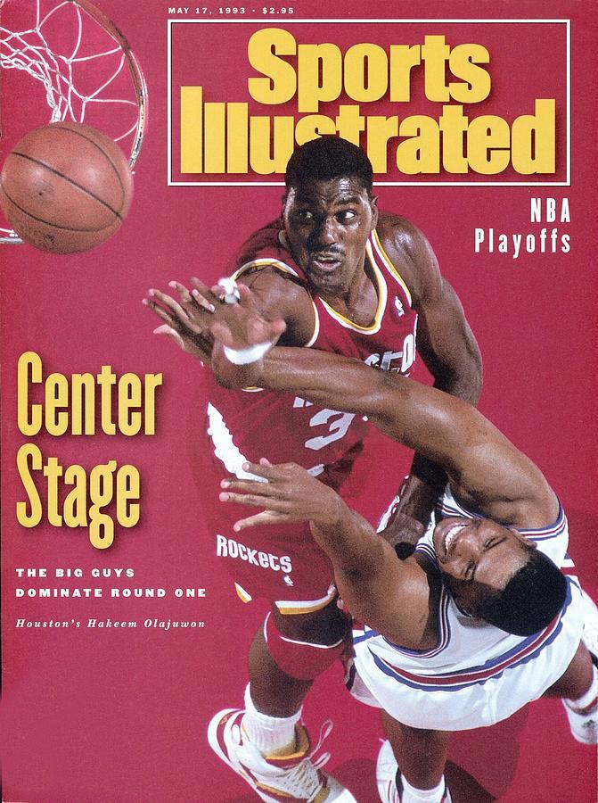 Houston Rockets Hakeem Olajuwon, 1993 Nba Western Sports Illustrated Cover Photograph by Sports Illustrated