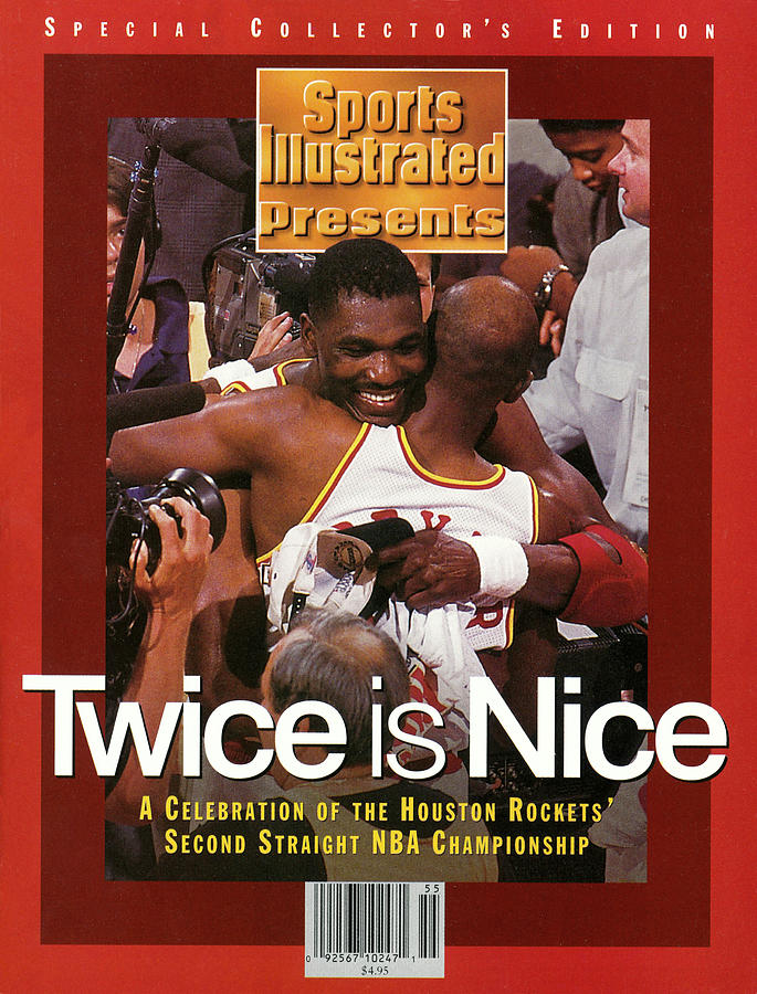 Houston Rockets Hakeem Olajuwon And Clyde Drexler, 1995 Nba Sports Illustrated Cover Photograph by Sports Illustrated