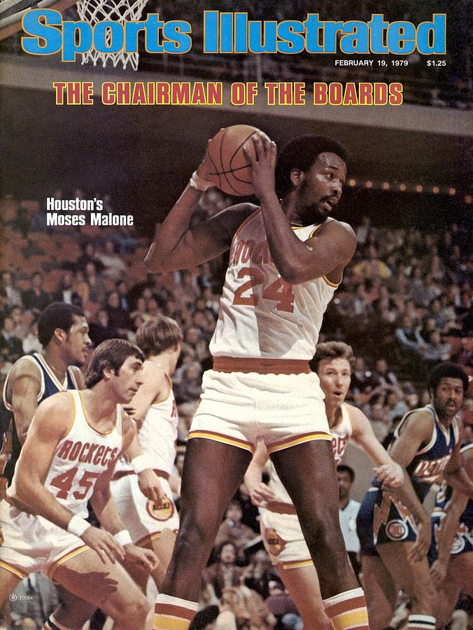 Houston Rockets Moses Malone... Sports Illustrated Cover Photograph by Sports Illustrated