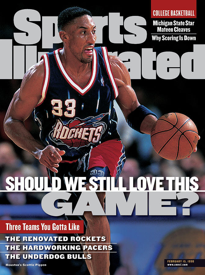 Houston Rockets Scottie Pippen... Sports Illustrated Cover Photograph by Sports Illustrated
