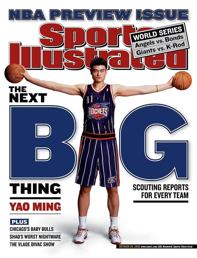 Houston Rockets Yao Ming, 2002-03 Nba Basketball Preview Sports Illustrated Cover Photograph by Sports Illustrated