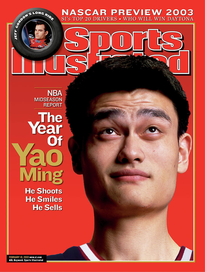 Houston Rockets Yao Ming, 2003 Nba Midseason Report Sports Illustrated Cover Photograph by Sports Illustrated