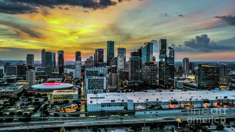Houston Sunset Photograph