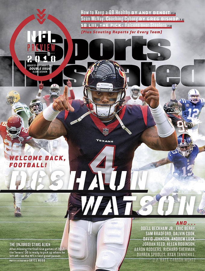 Houston Texans Deshaun Watson, 2018 Nfl Football Preview Sports Illustrated Cover Photograph by Sports Illustrated