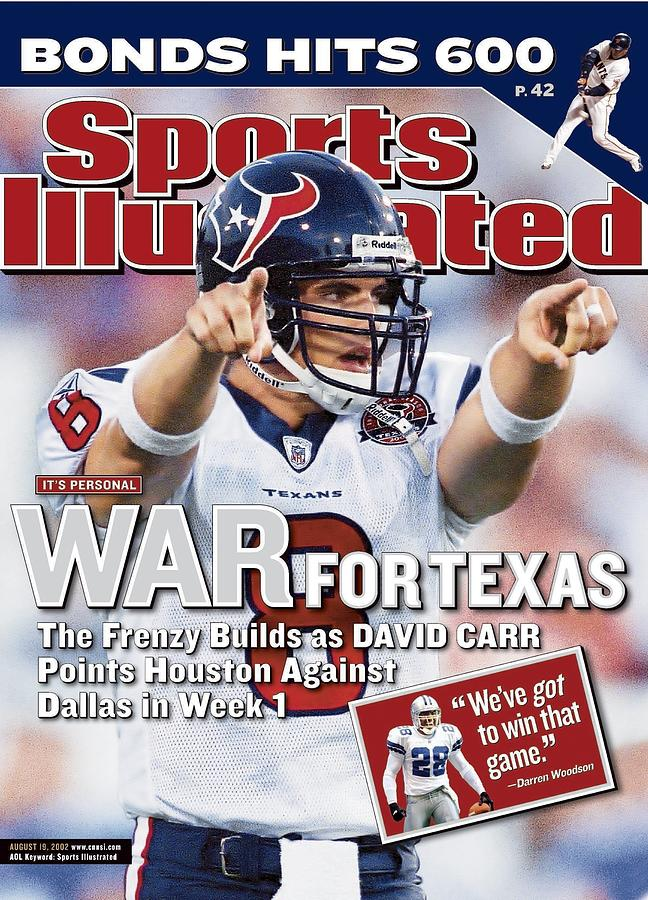 Houston Texans Qb David Carr, 2002 Nfl Hall Of Fame Game Sports Illustrated Cover Photograph by Sports Illustrated