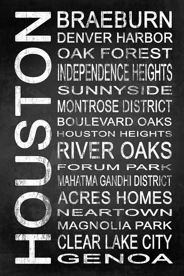Houston Digital Art - Houston Tx 5 by Melissa Smith