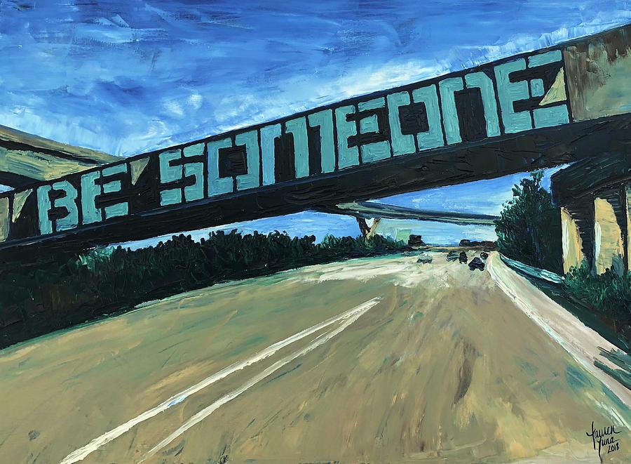 Houston Painting - Houstons Icon by Lauren Luna