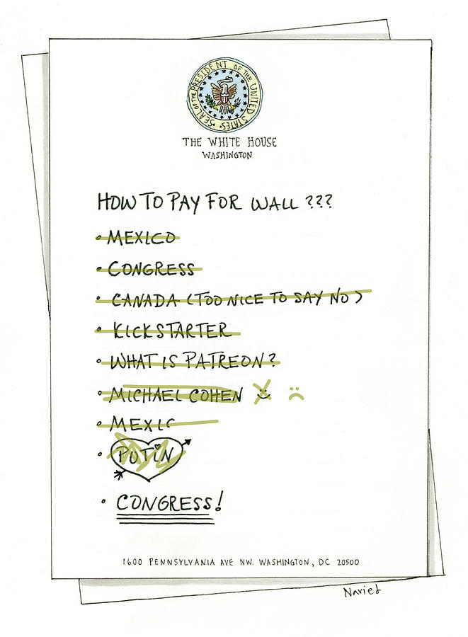 How to Pay for Wall  Drawing by Navied Mahdavian