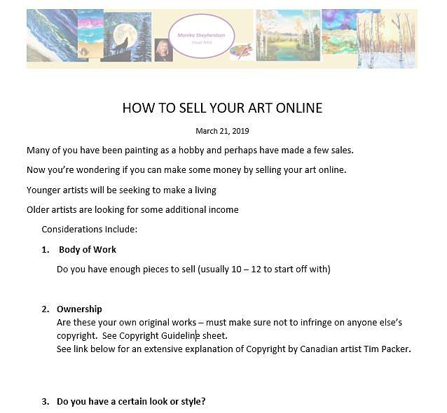How To Sell Online-pt1 by Monika Shepherdson