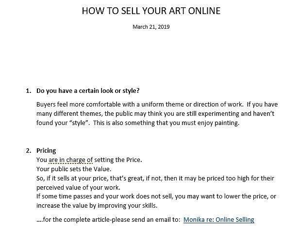 How To Sell Online-pt2 by Monika Shepherdson