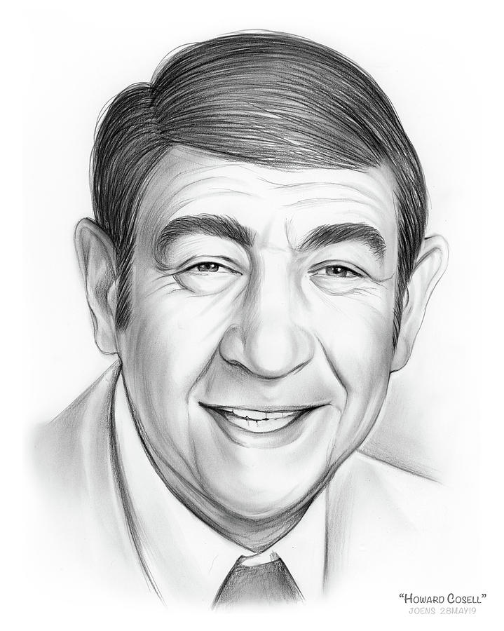 Howard Cosell Drawing