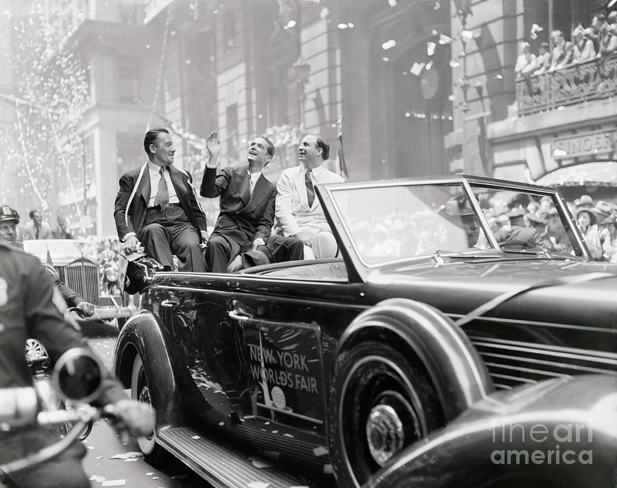 Howard Hughes During Parade In His Honor by Bettmann