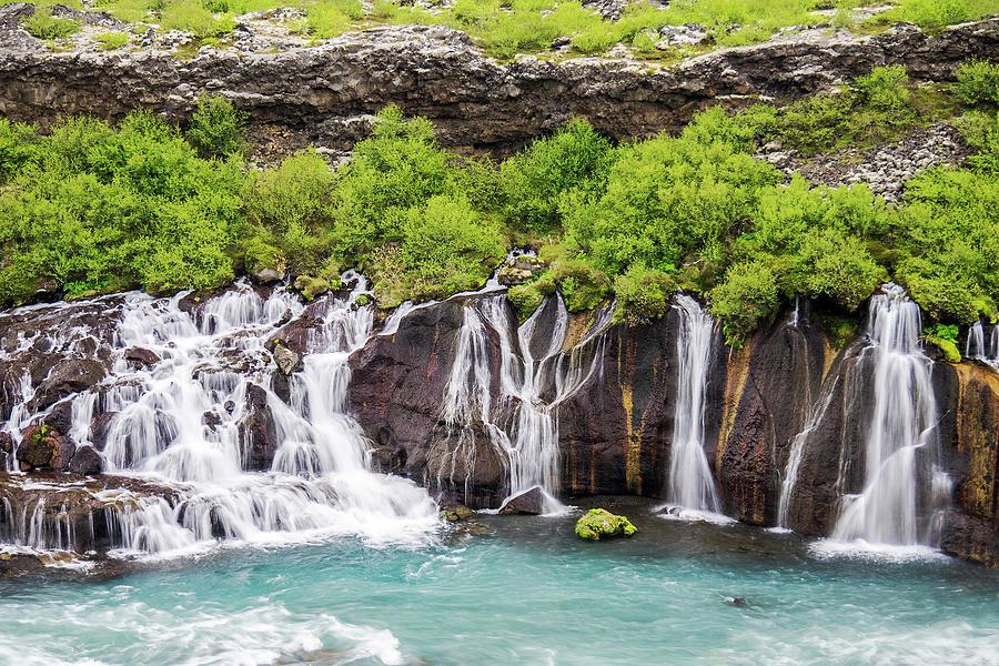 Hraunfossar Falls - Iceland by Marla Craven