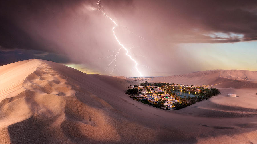 Huacachina Photograph - Huacachina Desert by Photography by KO