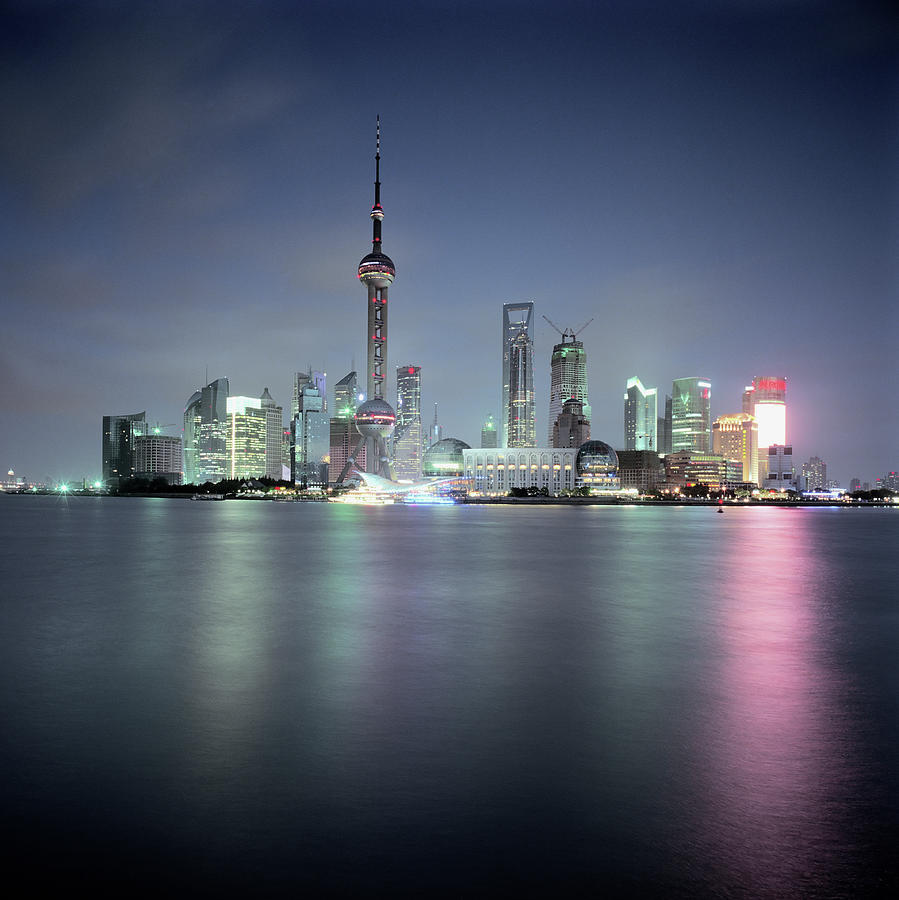 Huangpu River And Pudong Skyline Photograph by Martin Puddy