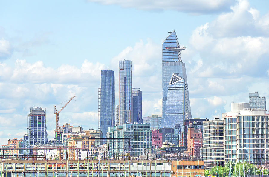 Hudson Yards Skyline by Cate Franklyn