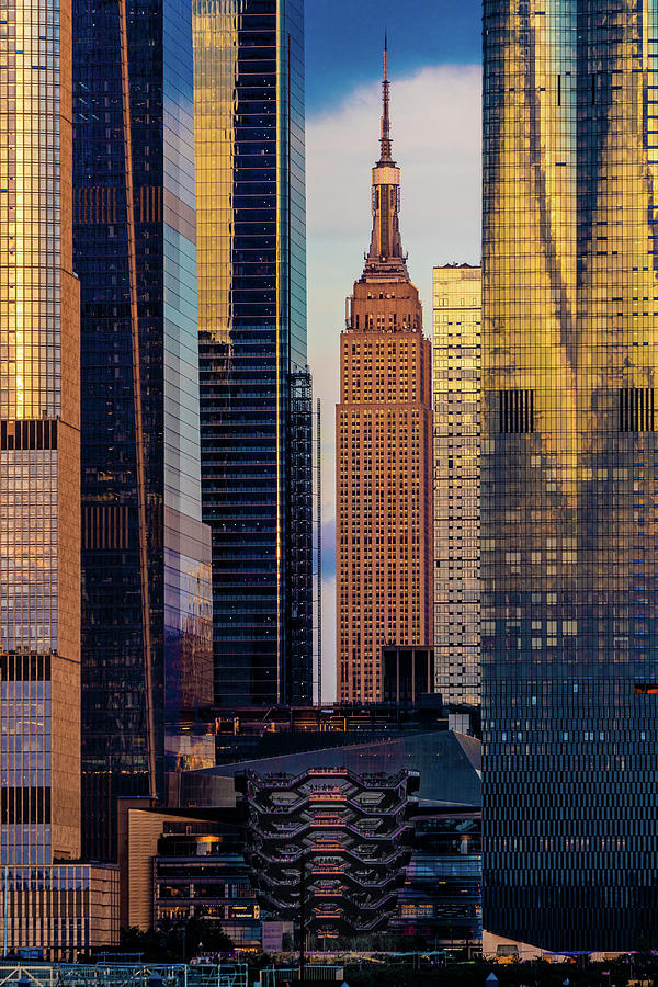 Hudson Yards With The Vessel And The Empire State Building by Chris Lord