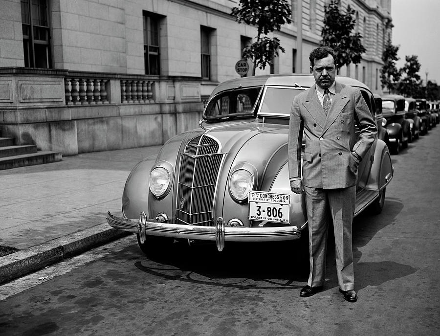 Huey Long With His Car - Washington - 1935 by War Is Hell Store